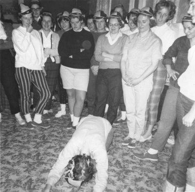 Waterloo Lutheran University initiation week, 1960