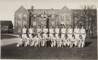 Waterloo College pyramid team, 1932