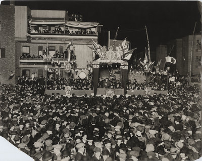 Wilfrid Laurier at a rally