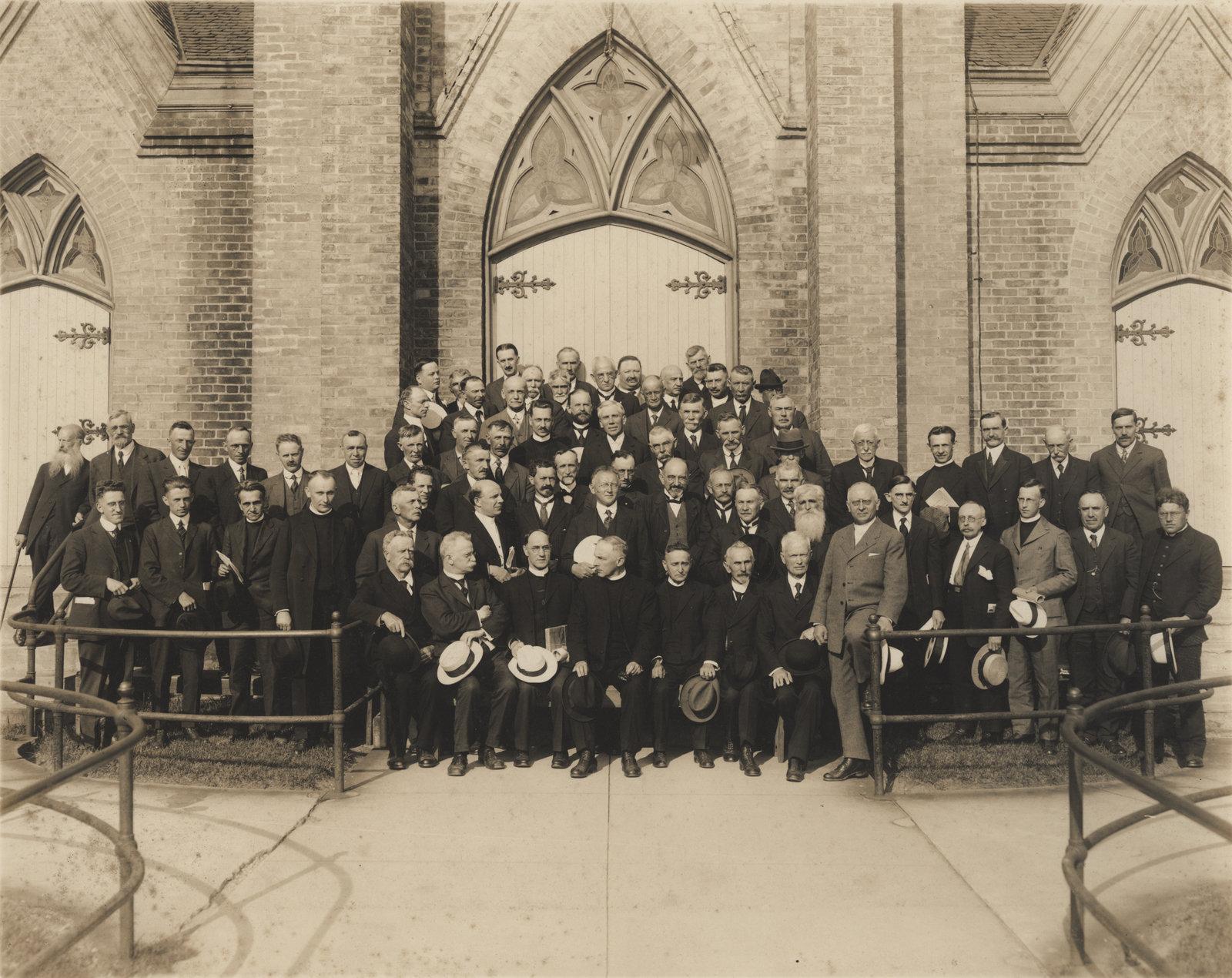 1922 Synod meeting, St. John's Lutheran Church, Waterloo, Ontario