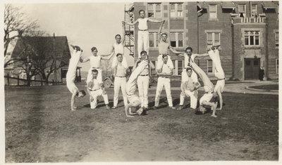 Waterloo College pyramid team 1925