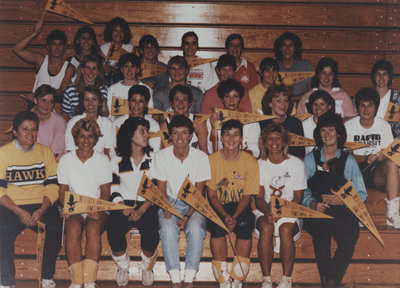 Volleyball players at Homecoming 1988, Wilfrid Laurier University