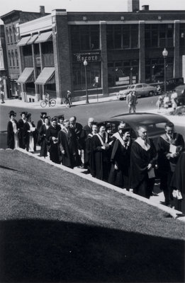 Waterloo College convocation procession