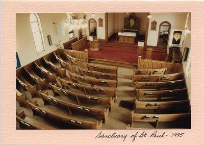 Interior of St. Paul's Lutheran Church, Neustadt, Ontario