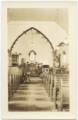 Interior of Zion English Evangelical Lutheran Church, Sault Ste. Marie, Ontario