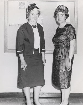 Mrs. Hermansen and Mrs. Cook, Lutheran Church Women, Eastern Canada Synodical Unit