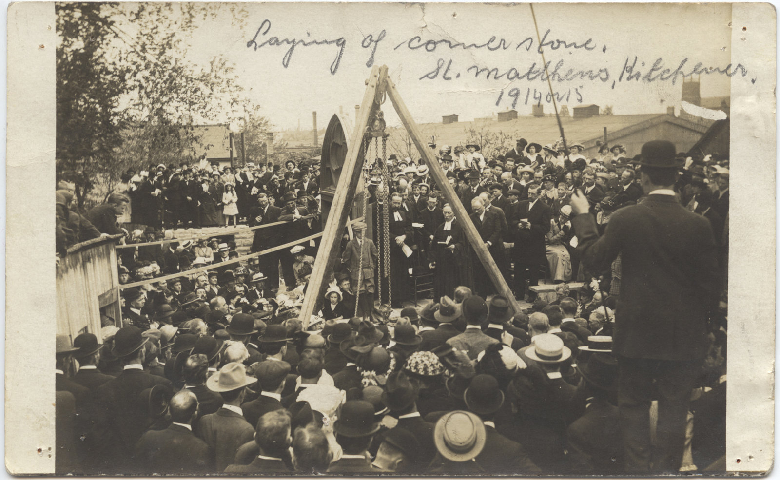 Laying of Cornerstone at St. Matthew's Lutheran Church, Kitchener