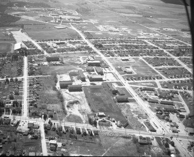 Aerial view of Waterloo Lutheran University, 1963