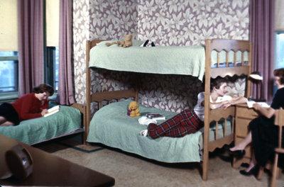 Residence room, Conrad Hall, Waterloo College