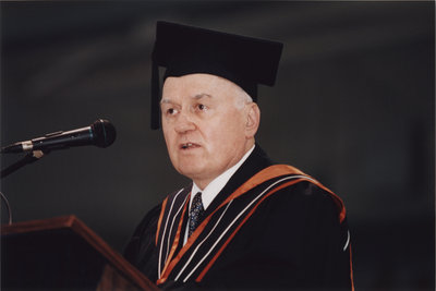 Jim Beingessner at spring convocation 2002