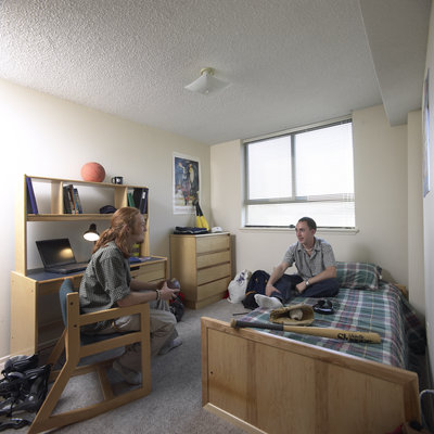 Students in residence room, Laurier Brantford