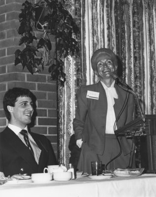 Guest speaker Marie Taylor at Wilfrid Laurier University Area Day, 1984