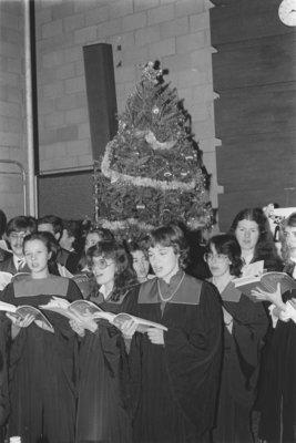 Wilfrid Laurier University Choir performing at the Boar's Head Dinner, 1983