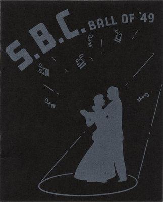 S.B.C. ball of '49 dance card