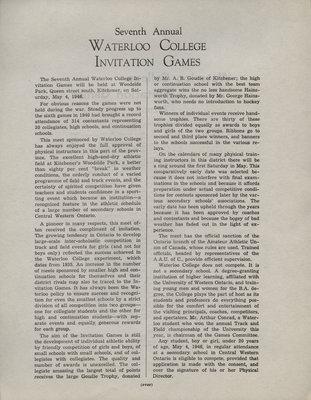 Waterloo College Invitation Games, 1946