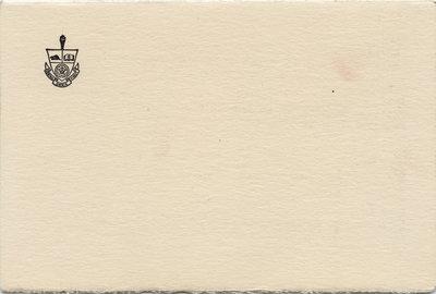 Waterloo College graduation programme and baccalaureate service invitation, 1954