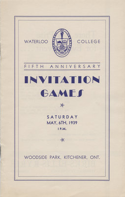 Waterloo College fifth annual Invitation Games, 1939