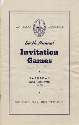 Waterloo College sixth annual Invitation Games, 1940