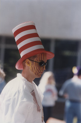 Fan at Homecoming game 1997