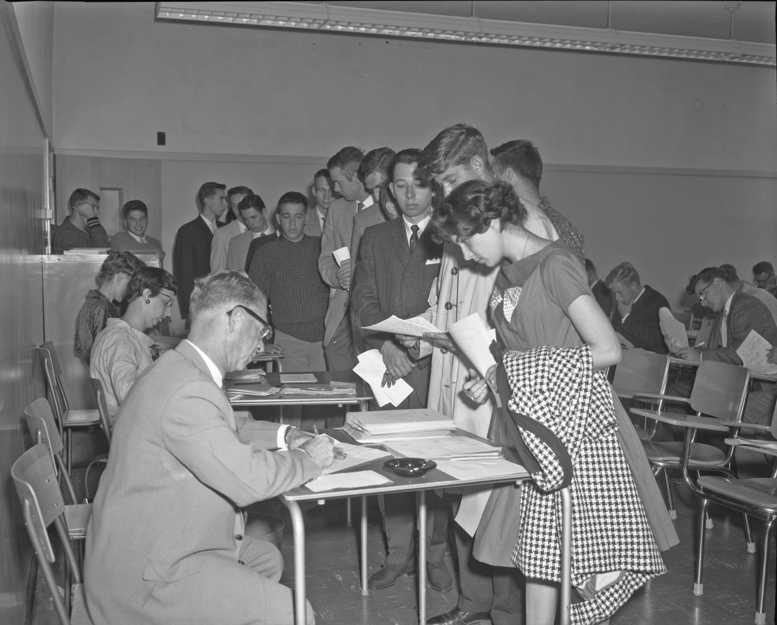 Waterloo Lutheran University registration, 1960
