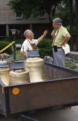 Installation of Wilfred Budd memorial bells, Waterloo Lutheran Seminary