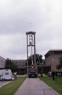 Installation of Wilfred Budd memorial bells, Waterloo Lutheran Seminary