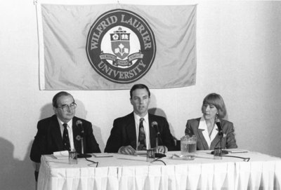 Wilfrid Laurier University press conference