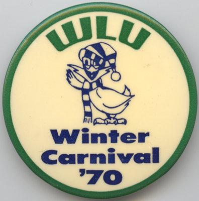 Waterloo Lutheran University 1970 Winter Carnival button