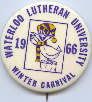 Waterloo Lutheran University 1966 Winter Carnival button