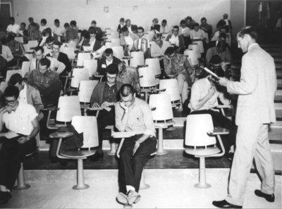Don Morgenson in classroom
