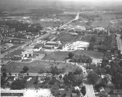 Aerial view of Waterloo College, 1957