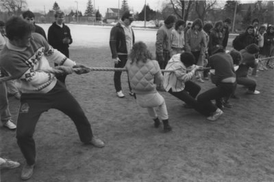 Tug-of-war at Winter Carnival 1989