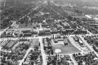 Aerial view of Wilfrid Laurier University