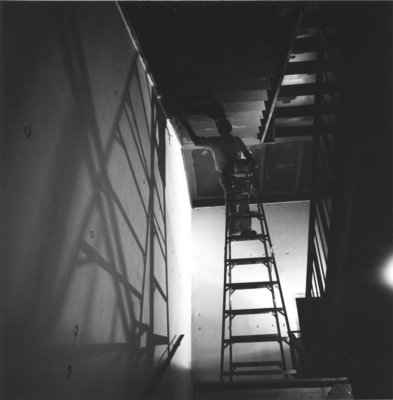 Workman in John Aird Centre