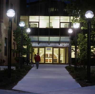Schlegel Centre entrance, Wilfrid Laurier University
