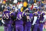 Wilfrid Laurier University football players during 2005 Vanier Cup national championship game