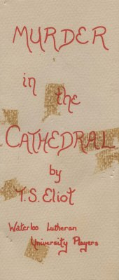"""Waterloo Lutheran University Players """"Murder in the Cathedral"""" program"""