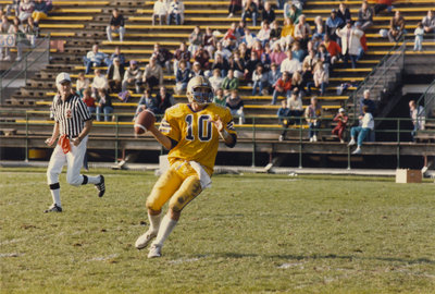 Quarterback Rod Philp during a Wilfrid Laurier University football game