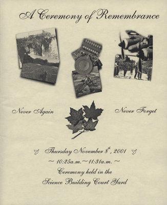 Remembrance Day Program, 2001