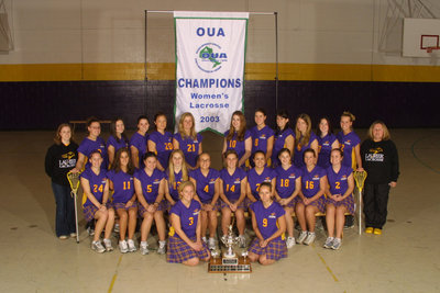 Wilfrid Laurier University women's lacrosse team, 2003