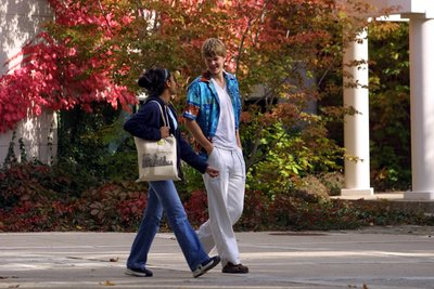 Students walking on Wilfrid Laurier University campus