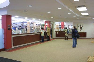 Wilfrid Laurier University Library circulation desk