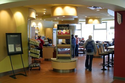 Wilfrid Laurier University Library cafeteria
