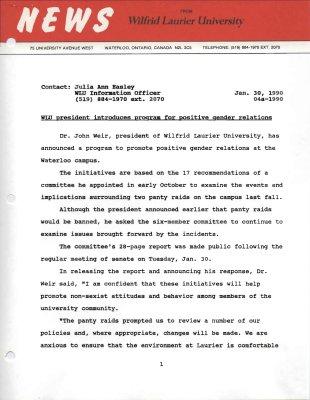 04a-1990 : WLU president introduces program for positive gender relations