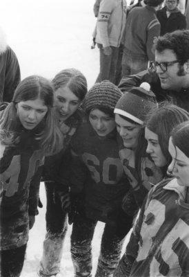 Winter Carnival powder puff football game