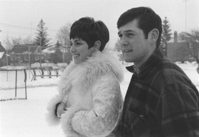 Man and woman at Waterloo Lutheran University Winter Carnival
