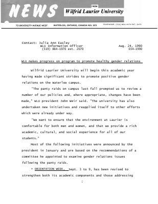 034-1990 : WLU makes progress on program to promote healthy gender relations