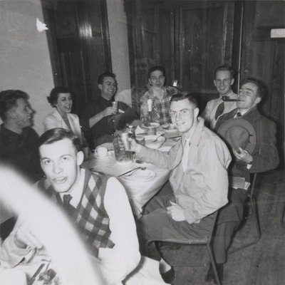 Students in the Dining Hall, Waterloo College