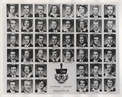 Waterloo College graduating class 1951 composite