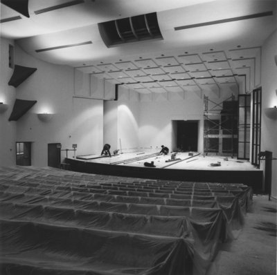 Construction of the Aird Centre recital hall